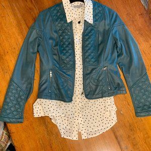 Olsen Faux Leather Jacket - size small